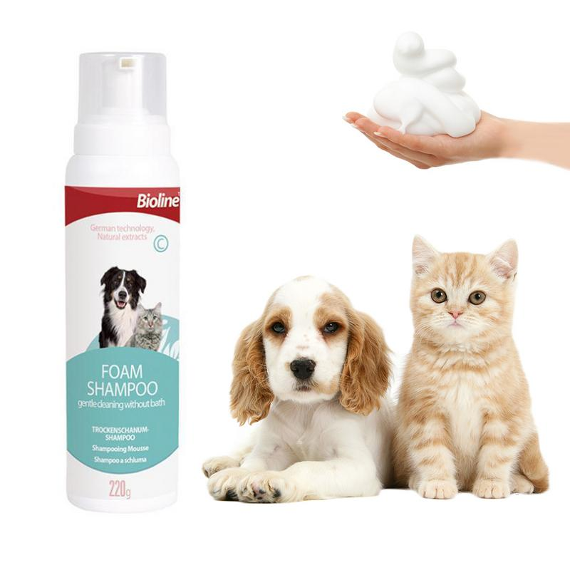 220g Pet Foam Shampoo Healthy Safe Dry Cleaning Outdoor Cleaning Abundant Foam Shampoo Pet Shower Gel