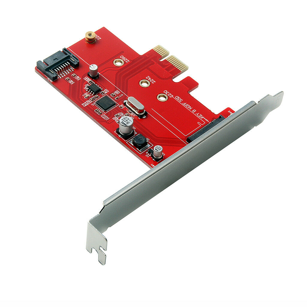 <font><b>M.2</b></font> <font><b>Pcie</b></font> Ssd To <font><b>Pcie</b></font> 3.0 <font><b>X1</b></font> And <font><b>M.2</b></font> Sata Ssd To Sata Iii Adapter Card image