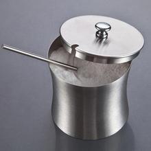 Нержавеющая сталь сахарница отшлифованная приправа горшок специи для соли сахара перца банка с крышкой и ложкой Кухонные гаджеты