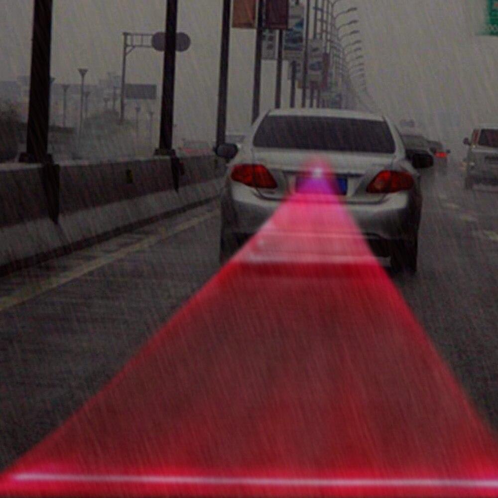 Car Auto Vehicle LED Laser Fog Light Anti-Collision Taillight Brake Warning Lamp