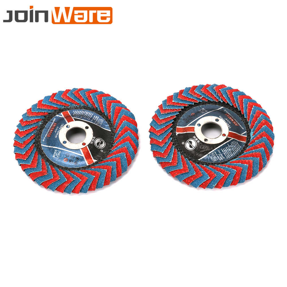 4 Inch 100mm Round Flap Sanding Disc Grinding Wheel for Metal Rust Removal 2Pcs