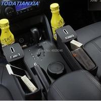 Car Seat Crevice Storage Box Accessoires for renault laguna 3 passat bmw e53 seat leon 1 suzuki grand vitara dacia duster audi
