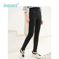INMAN Winter High Waist Show Fitness Korean Style Women Keep Warm Corduroy Lady Legging