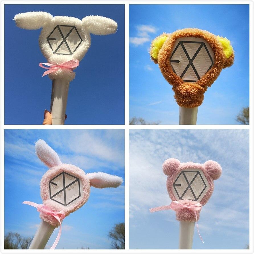 Expressive Kpop Exo Cute Cartoon Lightstick Headband Light Stick Plush Head Cover Chanyeol Baekhyun High Quality And Low Overhead Jewelry Findings & Components