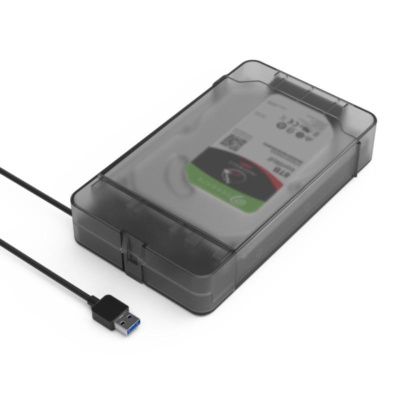 MAIWO Universal 2.5 Inch 3.5 Inch USB 3.0 5 Gbps SATA Box HDD Hard Disk Drive External HDD Enclosure Transparent Case Tool Sup