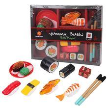 Детские режущие фрукты овощи набор японский суши модель головоломка ролевые игры игрушки как подарки