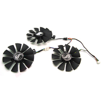 FreeShipping T129215SH /T129215SL 12V 0.30A Fan size 87mm 3holes For ASUS ROG STRIX RTX 2070 O8G GAMING Graphic Card Cooling Fan|Fluid DIY Cooling| |  -