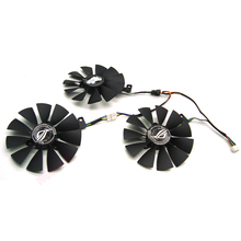 FreeShipping T129215SH /T129215SL 12V 0.30A Fan size 87mm 3holes For ASUS ROG STRIX RTX 2070 O8G GAMING Graphic Card Cooling Fan