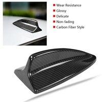 Car Carbon Fiber Antenna Shark Fin Cover Trim for BMW M E46 E90 E60 E61 Decorative Aerial Antenna Cover Sticker Base Roof New