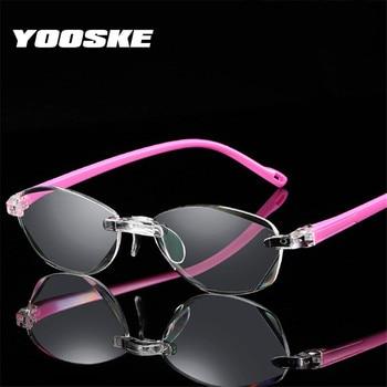 401346584c YOOSKE de bloqueo de luz azul gafas mujeres hombres gafas de lectura sin  montura hipermetropía anteojos recetados + 1,0, 1,5, 2,0, 2,5, ...