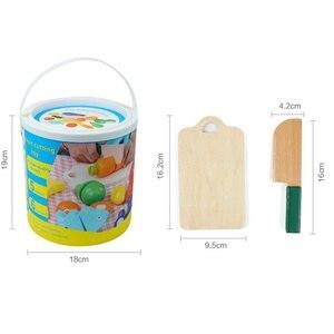 Image 5 - フルーツと野菜プレイ食品ふり切断食品おもちゃ 教育プレイセット玩具ナイフ、まな板