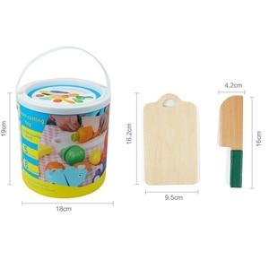Image 5 - Fruits et légumes jouent la nourriture de cuisine pour faire semblant de couper des jouets alimentaires Playset éducatif avec couteau de jouet, planche à découper