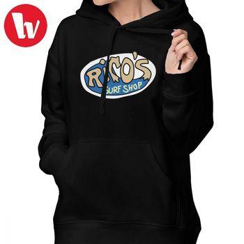 Hannah Montana Hoodie Rico S Surf Shop Logo Hoodies Cotton Sexy Hoodies Women Streetwear XXL White Long Sleeve Pullover Hoodie