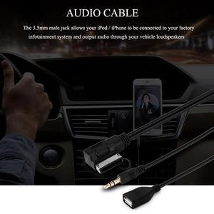 AOZBZ 3,5 мм музыкальный интерфейс AMI MMI Mini Jack автомобильные USB зарядные устройства USB Aux MP3 кабели для VW Audi S5 Q5 Q7 A3 A4L A5 A1