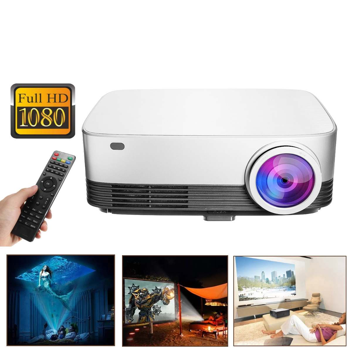 Claite L428 Lcd Projector 5.8 Inch Voor Office/home Smart Android Projector 1280*800 Resolutie 1g + 8g