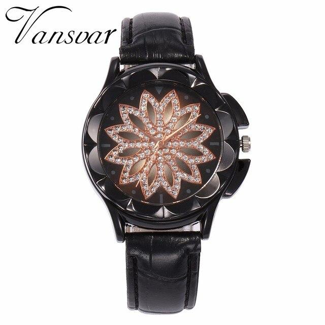 Best Selling Fashion Women Rose Gold Flower Rhinestone Watch Luxury Casual Female Quartz Watch Relogio Feminino Drop Shipping 5