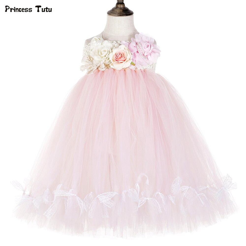 Flower Girls Princess Bow Dress Toddler Baby Wedding Party Kids Tulle Tutu Dress