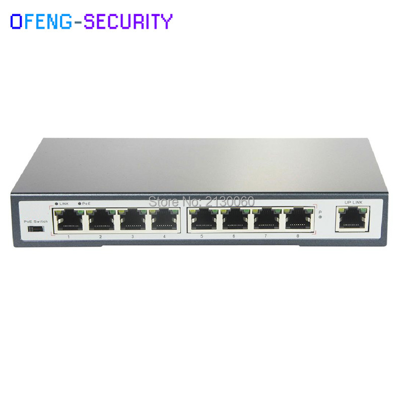 9 Ports 10/100M POE Switch 10M@long Distacne 250m, 8 * POE Ports + 1 * RJ45 Port, Total 110W Power, 802.3af/at
