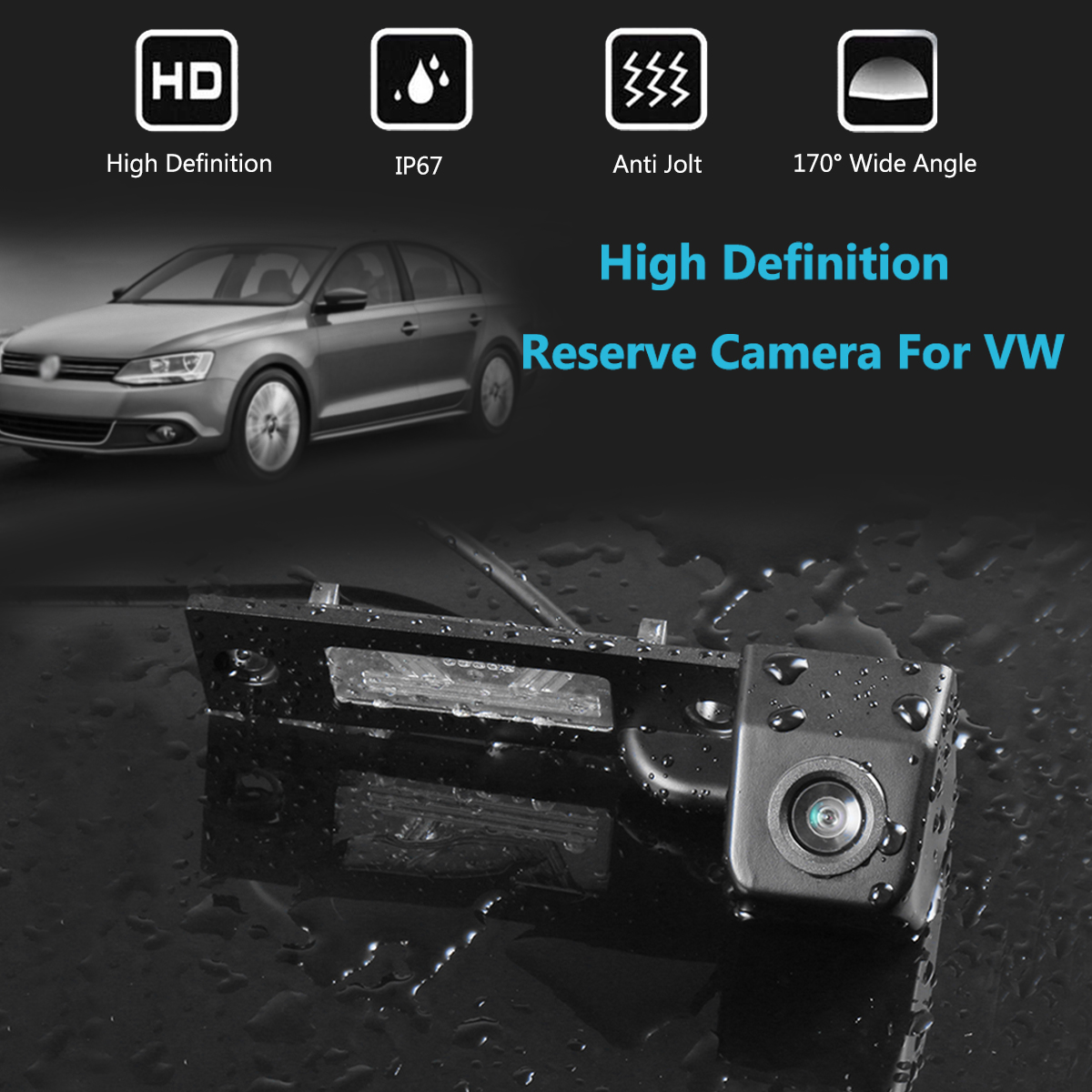 Carro HD 170 Graus Grande Angular Câmera de Visão Traseira de Backup Reversa Para VW Transporter T5 T30 para Caddy Passat B5 para Touran Jetta