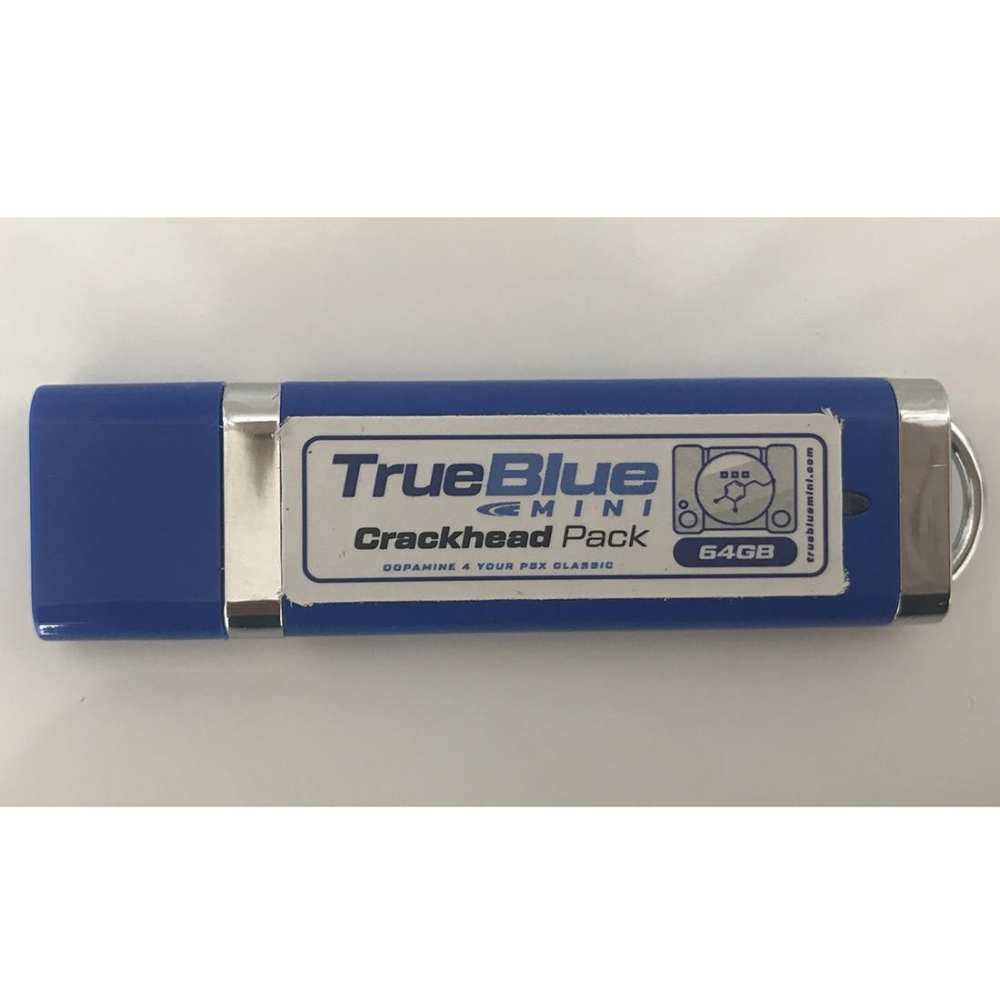 HOBBYINRC vrai bleu Mini 64G 101 jeux craquelé Pack + 64G 101 jeux Meth Pack pour PlayStation classique jeux & accessoires - 4