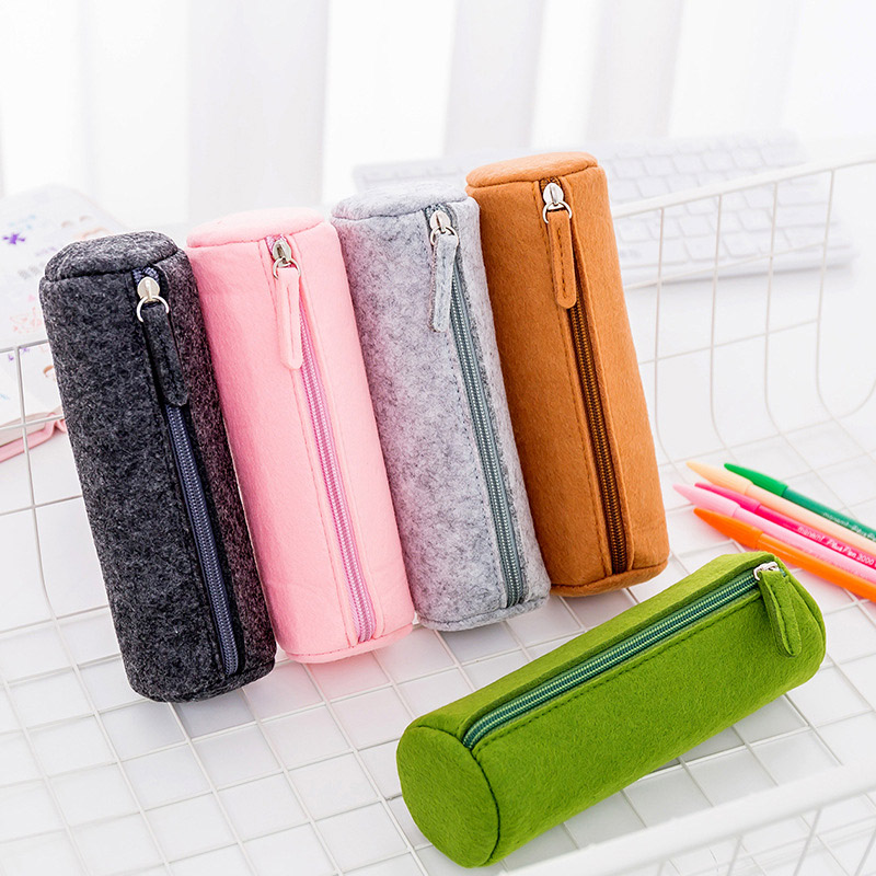1Piece Vintage Pen Bag Cute Candy Color Pencil Case Lagre Capacity Pencil Bags For Girls Gift School Supplies Kawaii Stationery