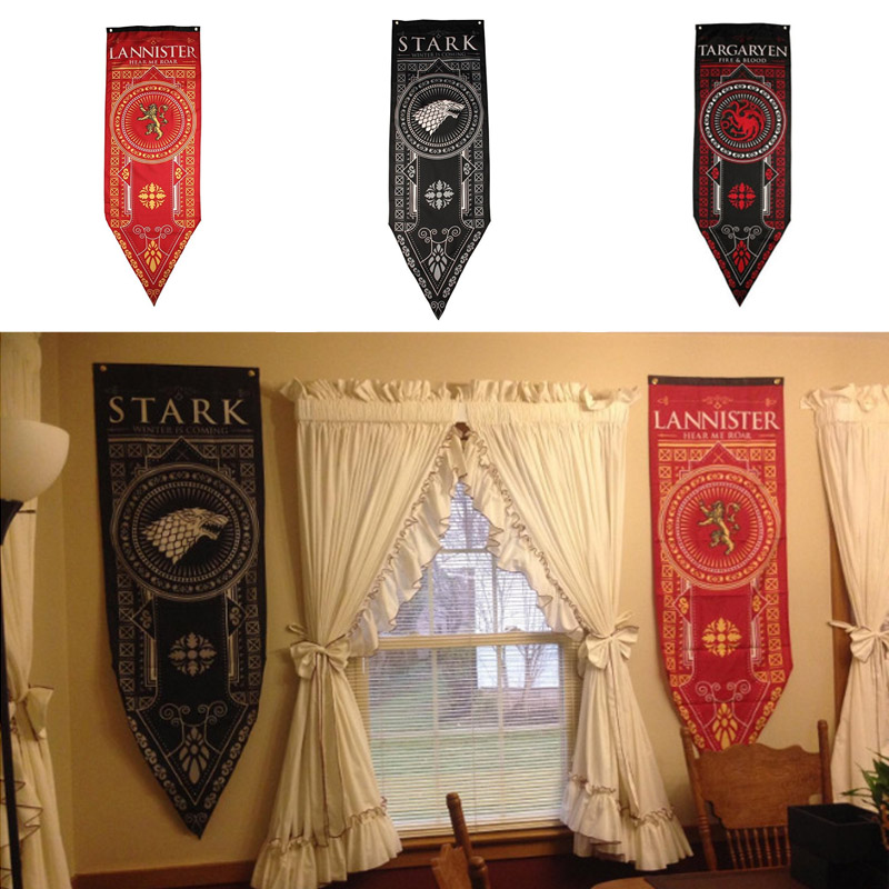 Stark Family Rights Games Banner Game Of Thrones Tournament Banners Set Lannister Flag Party Supplies