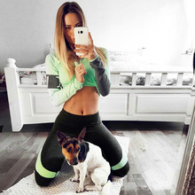 ZOGAA Stitching Pants Bottom Body-building Fast-drying Sports womens legging push up leggings fitness