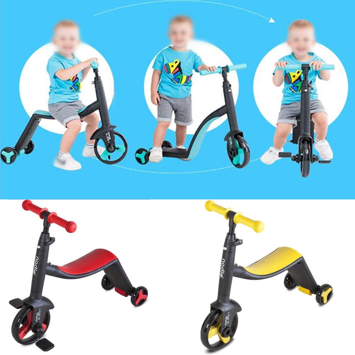 3 roues enfants Scooter enfants trois roues Balance vélo 3 en 1 Balance vélo monter sur les voitures bébé Scooter Tricycle vélo monter sur les jouets