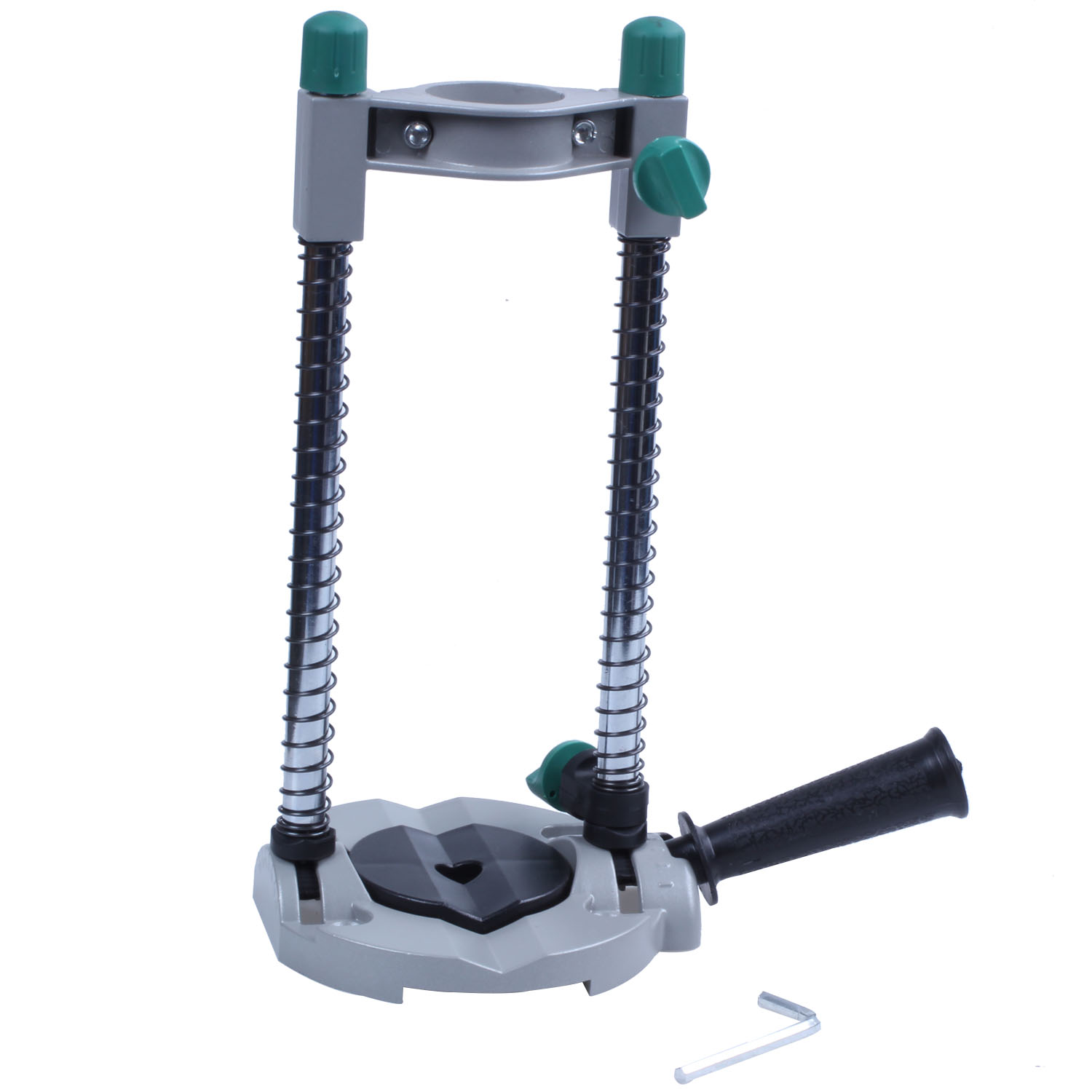 Precision Drill Guide Pipe Drill Holder Stand Drilling Guide with Adjustable Angle and Removable Handle DIY