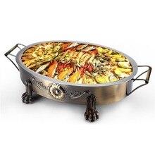 Griller Korean Bbq Smoker Outdoor Gril Barbeque Asador A Carbon Churrasco Kebab Commercial Barbacoa Seafood Fish Grill Plate