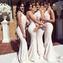 Elegant  Dresses Xnxee Long Chiffon Dress A-line Ruffle 2019 Bridesmaid For Wedding Party Guest