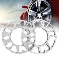 2pcs 8mm Universal Alloy Aluminum Wheel Spacers Shims Set Multi Fit For 4/5 Stud