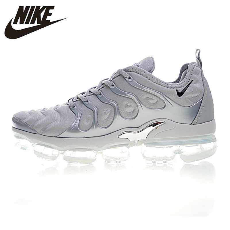 Nike Air VaporMax Plus оригинальные женские кроссовки для бега уличные Нескользящие износостойкие дышащие кроссовки #924453-005