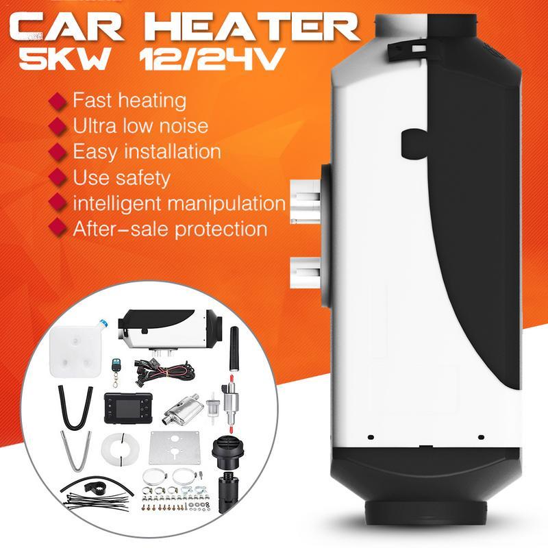 Réchauffeur de voiture 5KW 12 V/24 V Air Diesels chauffage de stationnement avec moniteur LCD télécommande pour camping-Car camping-Car camions bateaux - 2