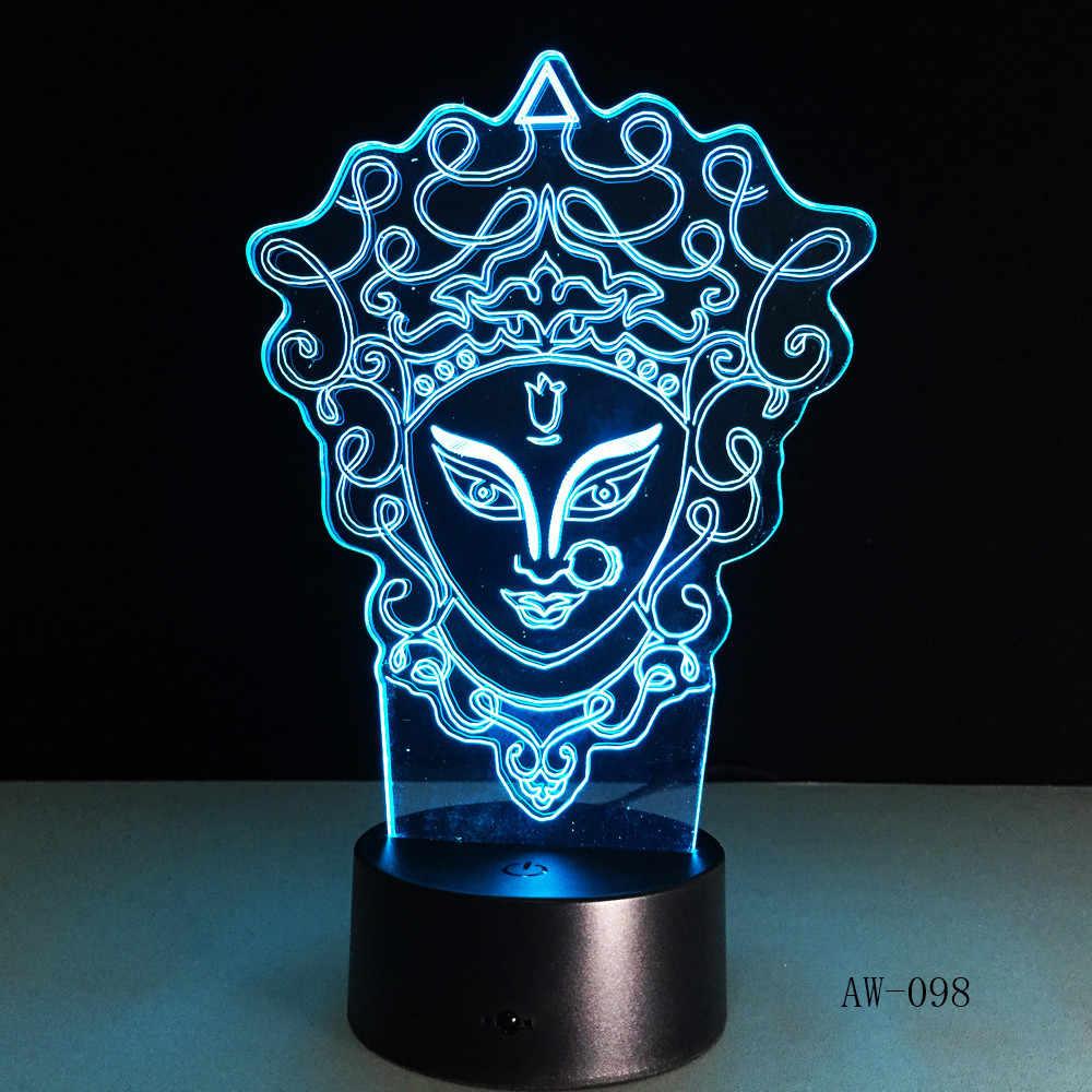 Уникальный китайский Стиль 3D Пекинская опера светодиодный светильник Инновационная декоративный гаджет 7 цветов Изменение Night Light Домашнее освещение RC подарок AW-098