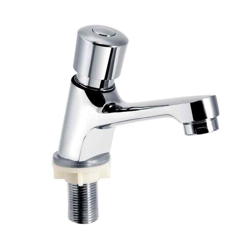1 zestaw opóźnienie kran publiczny Ktchen łazienka chromowane samozamykające oszczędzanie wody z opóźnieniem czasowym kran do zlewu i umywalki kran