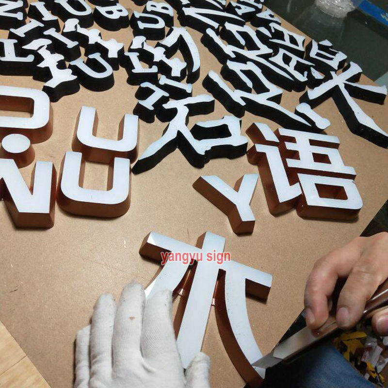 Factory outside signage for board 3d led acrylic Mini letters image