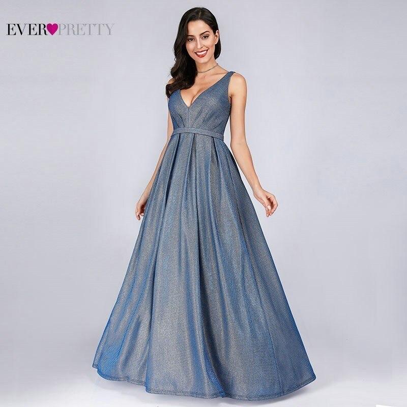 Faísca Vestidos de Noite Longo Já Bastante EP07889 A-Line Com Decote Em V Paillette Do Vintage Vestidos Formais Elegantes Vestidos de Festa Vestidos de 2019
