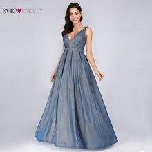 Sparkle Evening Dresses Long Ever Pretty EP07889 A-Line V-Neck Vintage Paillette Formal Elegant Party Gowns 2019