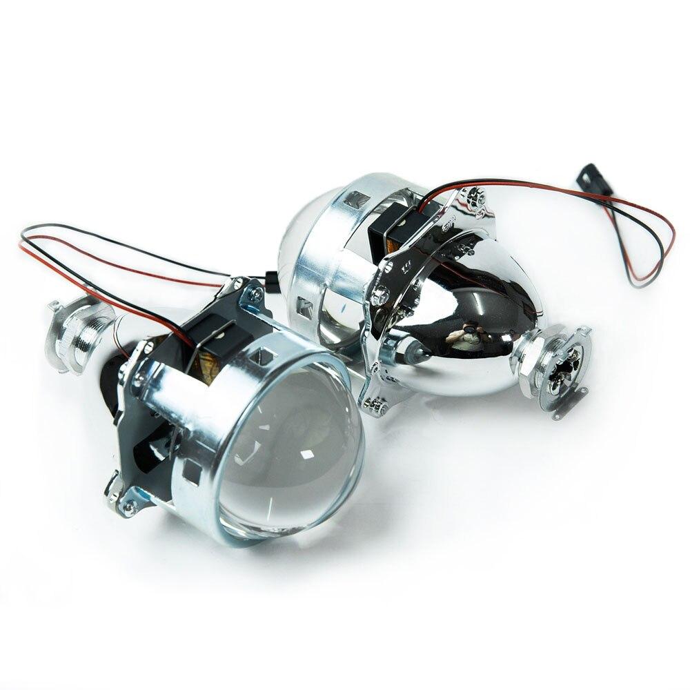2 pièces 3.0 pouces voiture Bi xenon H1 hid projecteur lentille support métallique hid xénon kit phare phare H1 H4 H7 modèle voiture modifier