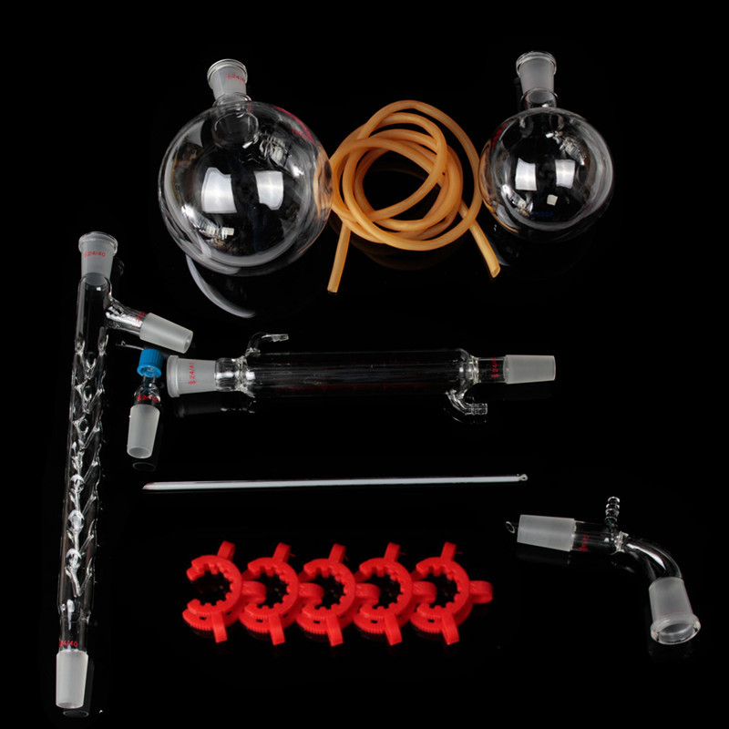 1000 mL laboratoire chimie 24/40 appareil de Distillation sous vide distillateur Kit avec Vigreux colonne laboratoire verrerie