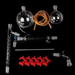 1000mL Lab Chemistry 24/40 Distillation Apparatus Vacuum Distill Kit With Vigreux Column Laboratory Glassware