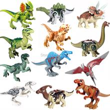 For legoing jurassic Dinosaurs World of park Velocirap Tyrannosaurus Rex Movie Set Models Building Blocks Bricks Toys figures cheap Self-Locking Bricks AIBOULLY toys For Children legoing jurassic world Dinosaurs minifigured Unisex PLASTIC 6 years old