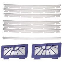 2 HEPA Filters + 6 Compatible Blades and 1 Squeegee Replacement For Neato xv-11 xv-12 xv-14 xv-15 xv-21 XV Signature Pro Vacuu