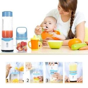 Image 5 - Personale Portatile Blender Usb Spremiagrumi Succo di Viaggio Ricaricabile 350ML 500ML 6 Lame Baby Food Mixer Frullato di Ghiaccio di Goccia trasporto libero
