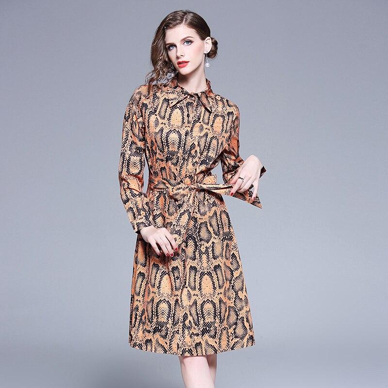 c88c052aa0 Brand Runway Shirt Dress Women Vestidos De Festa 2018 Spring Summer Dresses  Brown Lapel Button Long