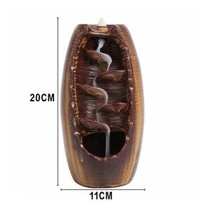Image 2 - Brûleur dencens à reflux de fumée en céramique aromathérapie four cône encens cascade montagne rivière artisanat porte encens