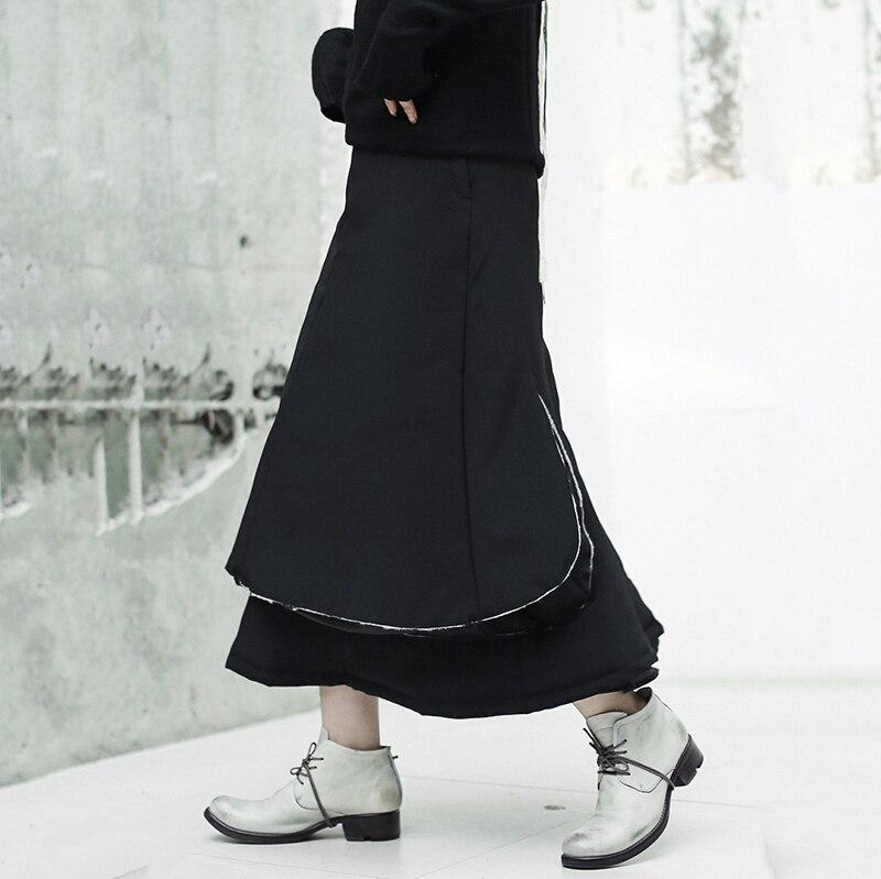 Épais eam Mode Taille Couches Coton Jupe 2019 Noir Printemps rembourré Femmes Haute Black Nouveau Marée Jk134 De Lâche Point zCzRrq