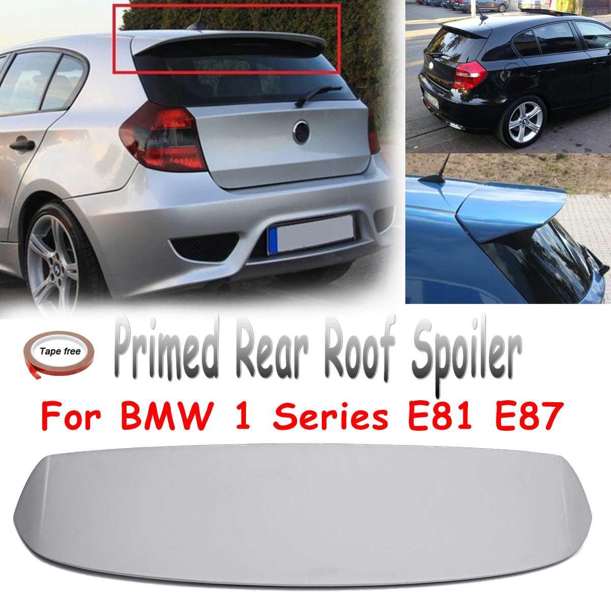 Alerón trasero sin pintar para techo, alerón para maletero, alerón de fibra de vidrio apto para BMW 1 serie E81 E87 FRP