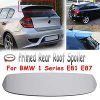 Unpainted Primed Rear Trunk Roof Lip Trunk Spoiler Fiberglass Wing Fits for BMW 1 Series E81 E87 FRP
